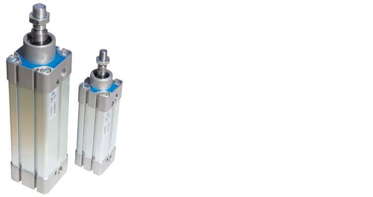 Cilindro ISO6431 N11M21000075 con pistone in alluminio ø100; corsa 75 mm; magnetico; doppio effetto ammortizzato
