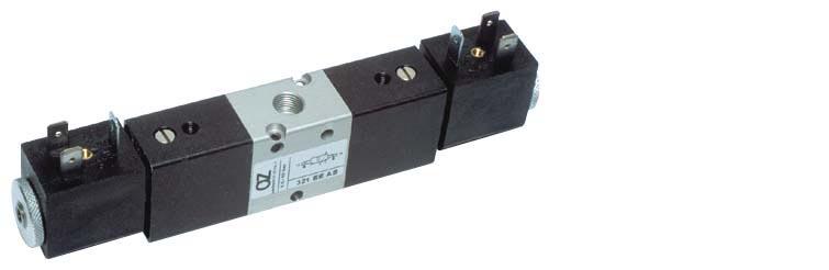 """3/2 1/8"""" doppio comando elettrico alimentazione separata, senza bobine"""
