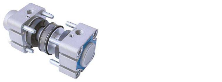 Kit cilindro ISO 6431 magnetico ø80 con guarnizioni standard, pistone in alluminio